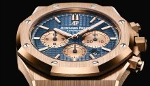Royal Oak Chronograph, pink gold, blue dial, pink gold bracelet, reference