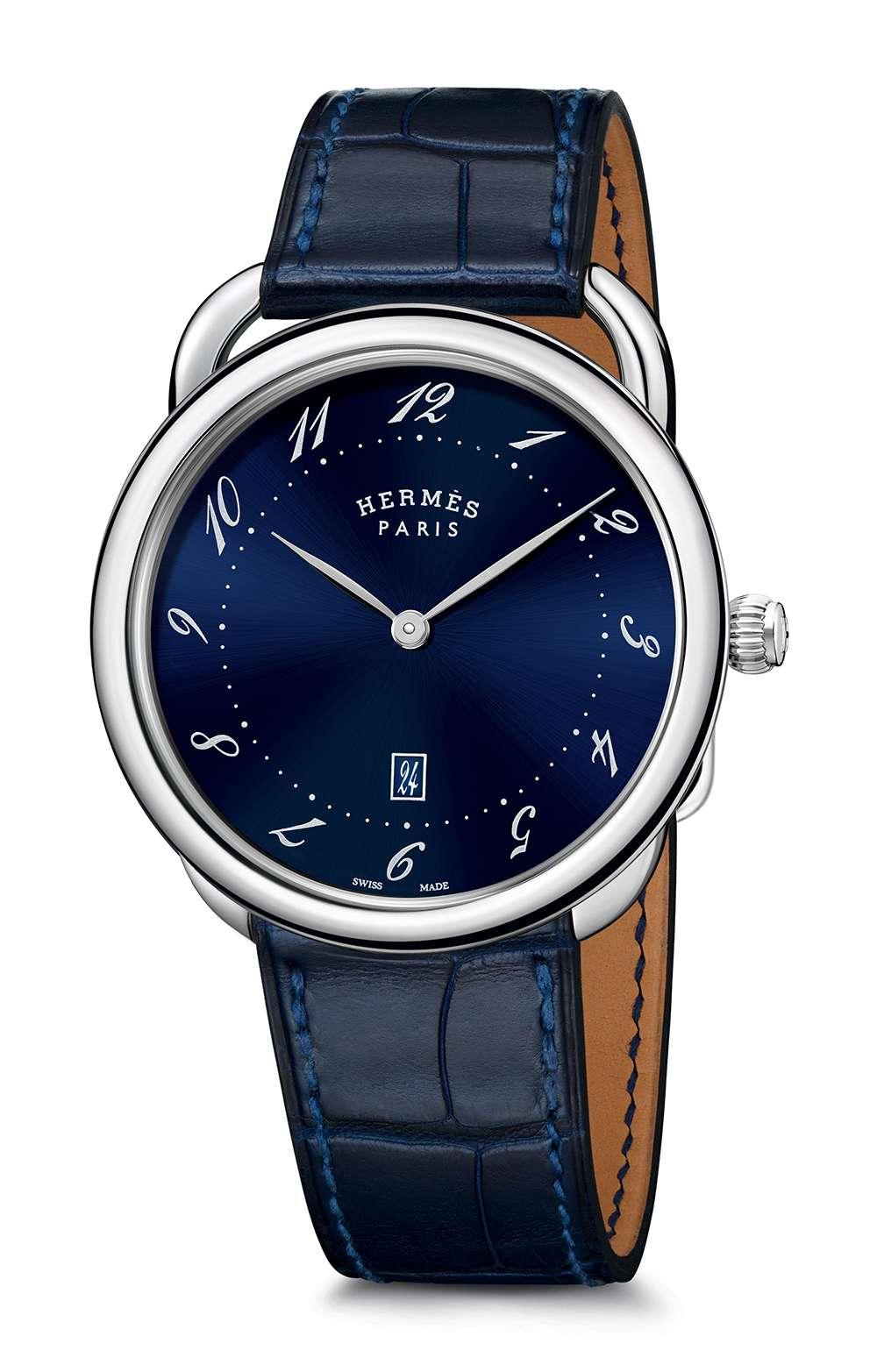 Hermès Arceau Trés Grand Modèle bleu