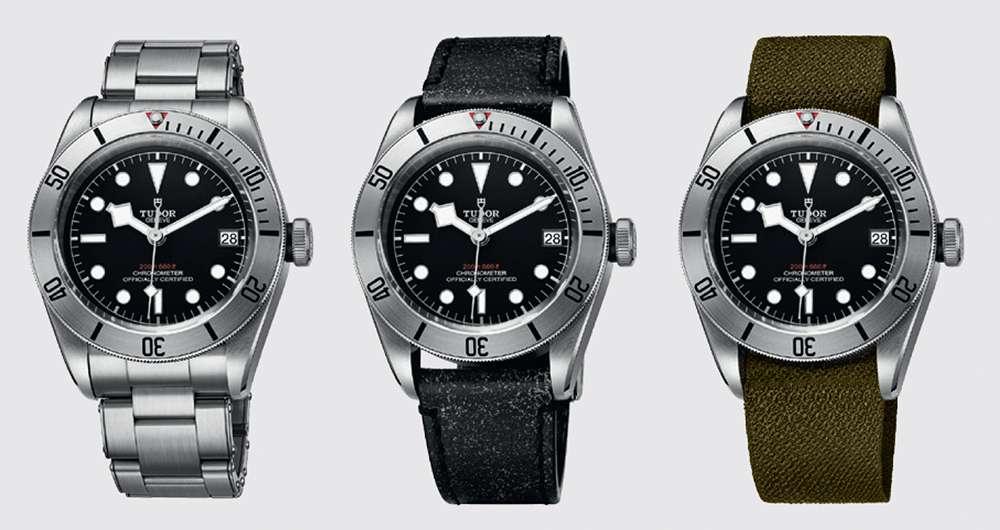 Tudor Heritage Black Bay Steel, three watches