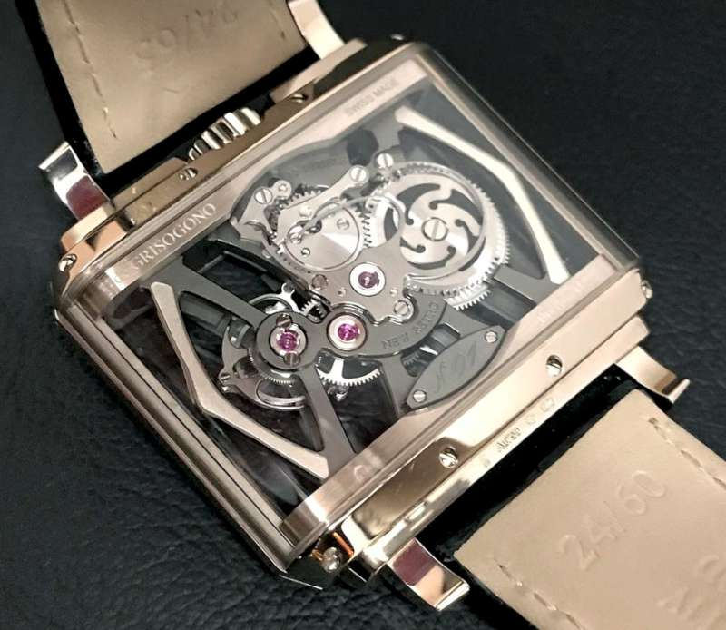 de Grisogono New Retro Skeleton Tourbillon, caseback