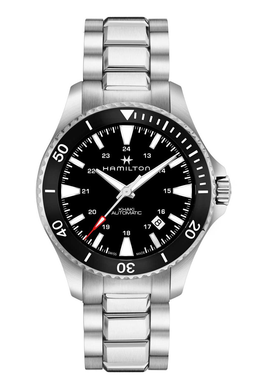 Hamilton Khaki Navy Scuba with bracelet, black dial