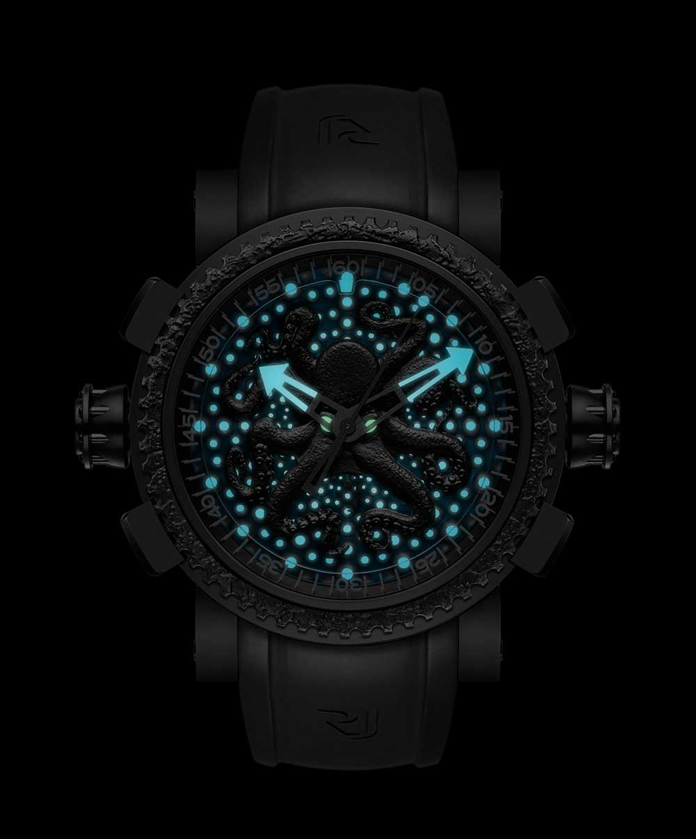 Romain Jerome Octopus Lume by night