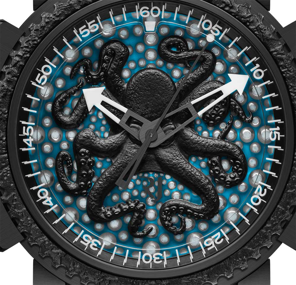 Romain Jerome Octopus Lume dial detail
