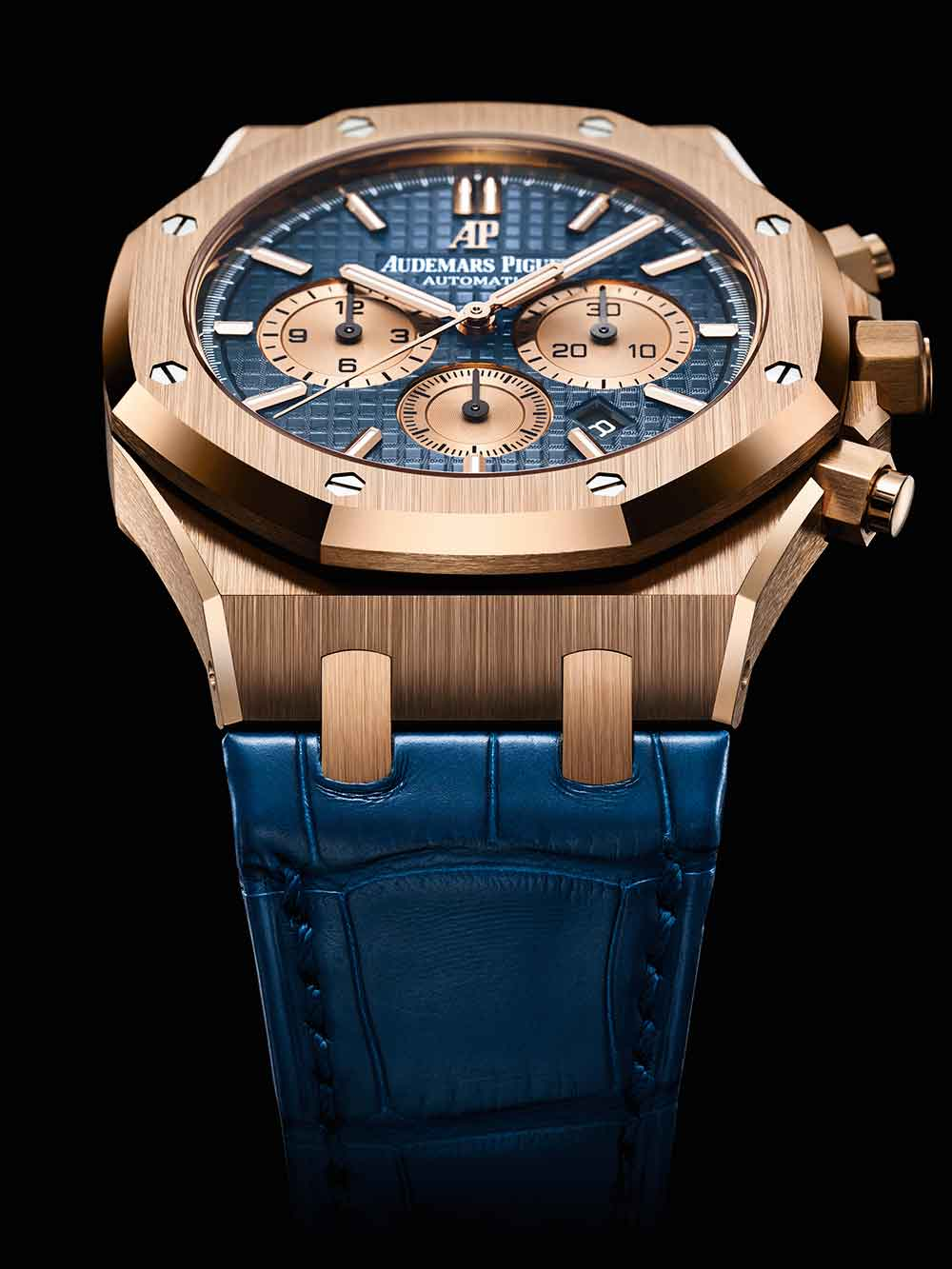 Royal Oak Chronograph, pink gold, blue dial, reference 26331OR.OO.D315CR.01