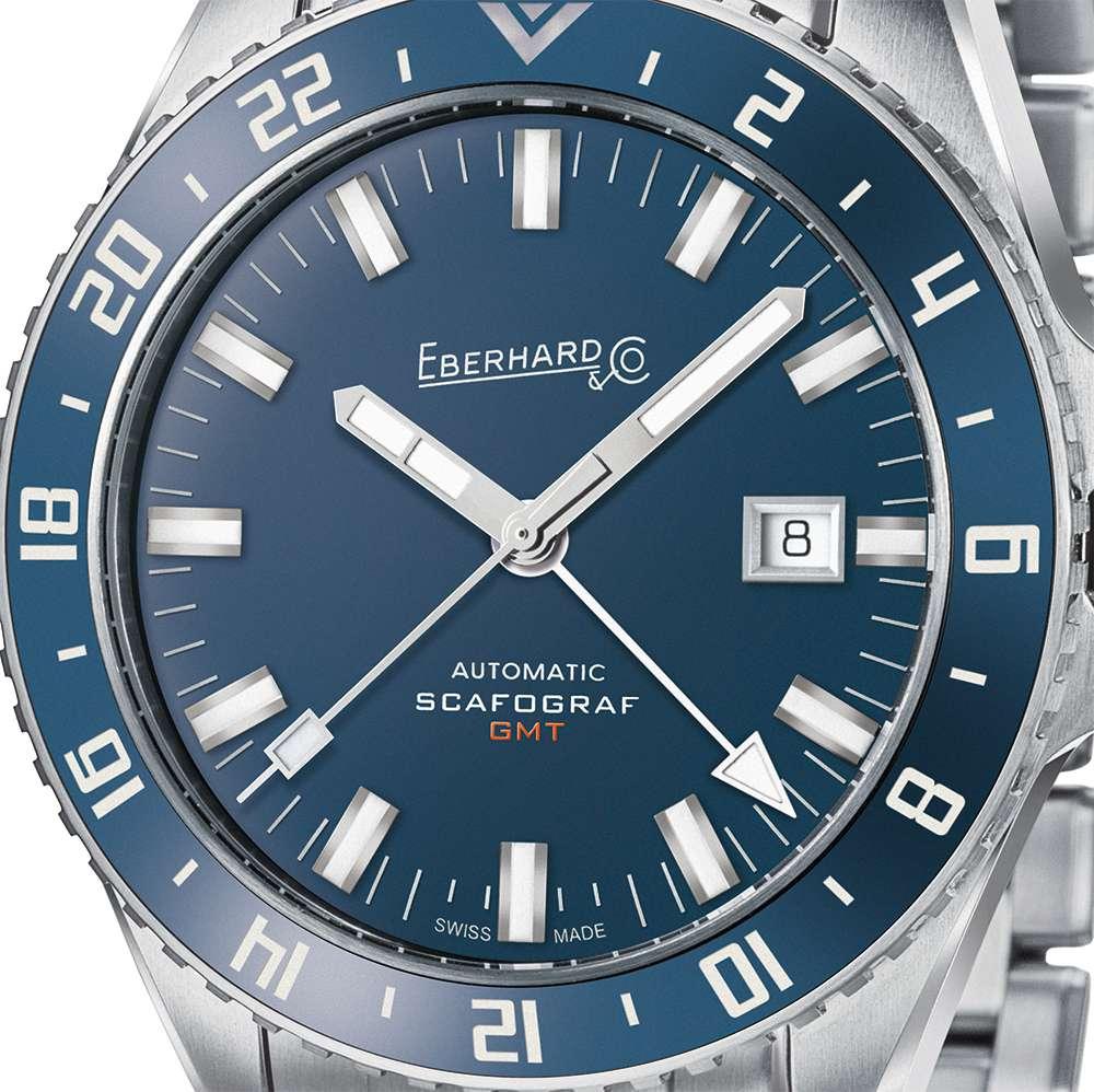 Eberhard & Co. Scafograf GMT dial detail