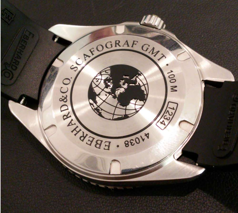 Eberhard & Co. Scafograf GMT caseback