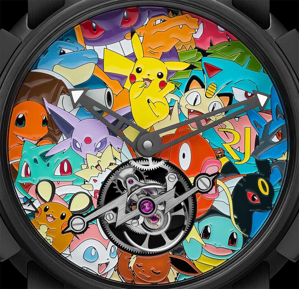 Romain Jerome Tourbillon Pokémon dial detail