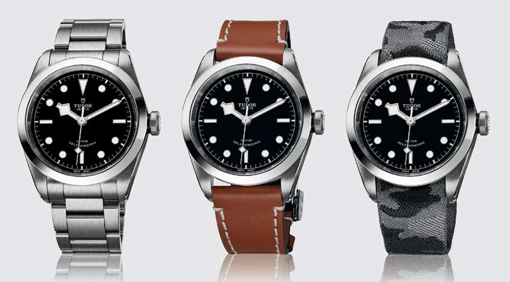 Tudor Heritage Black Bay 41, three strap options