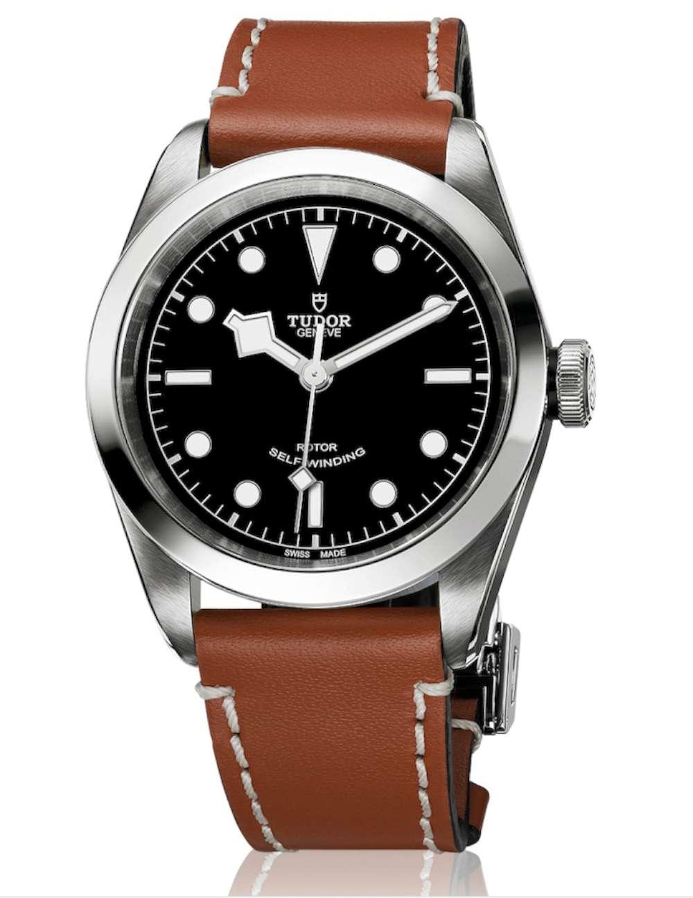 Tudor Heritage Black Bay 41, leather strap