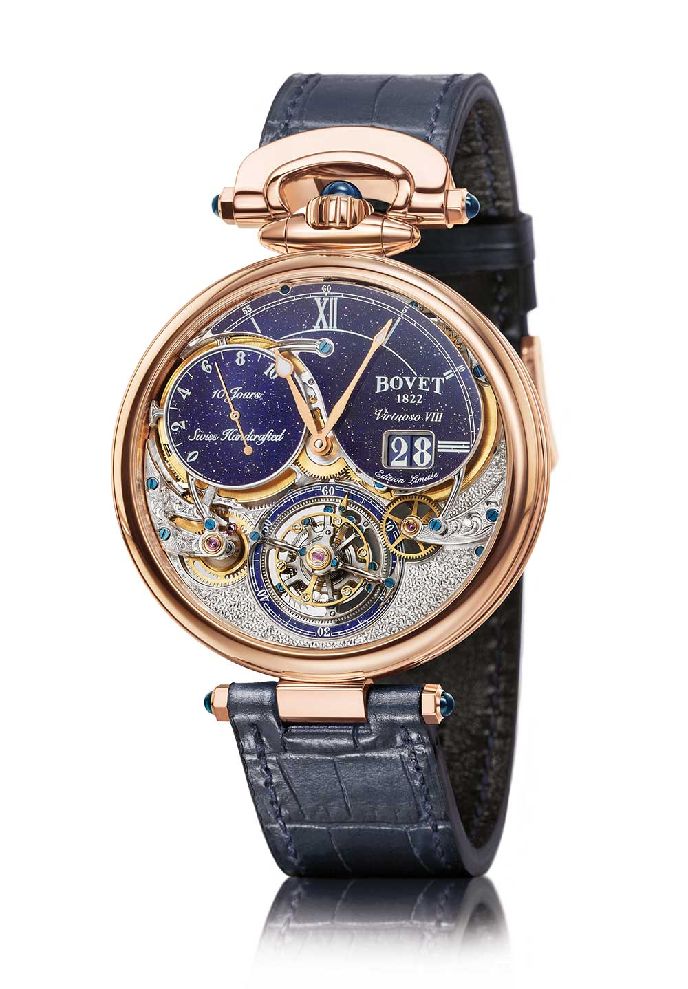 Bovet Virtuoso VIII Flying Tourbillon Big Date aventurine dial