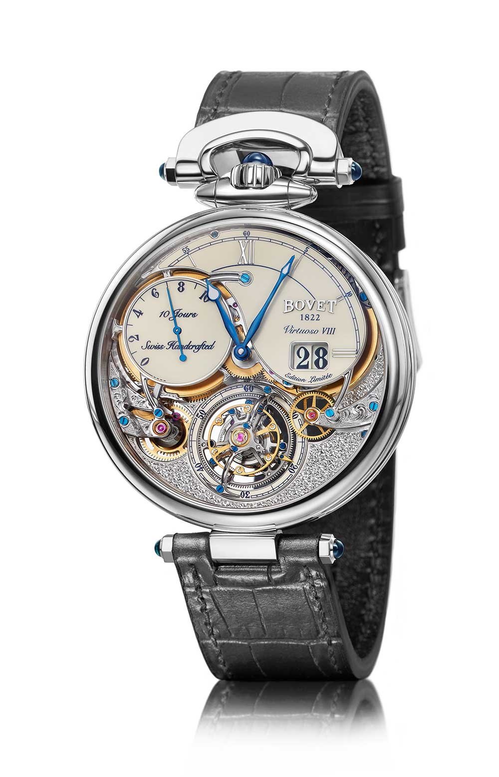 Bovet Virtuoso VIII Flying Tourbillon Big Date, white dial