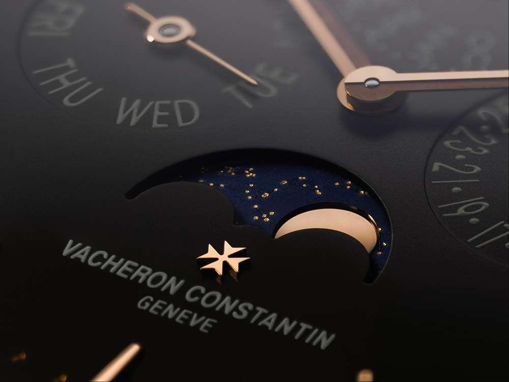 Vacheron Constantin Patrimony perpetual calendar moon phase detail