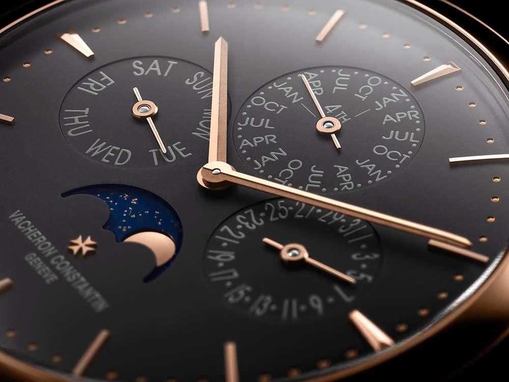 Vacheron Constantin Patrimony perpetual calendar dial detail