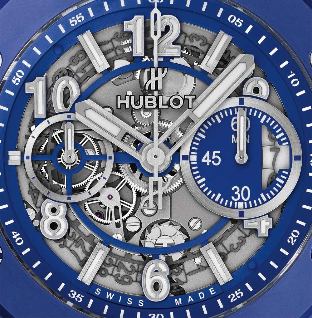 Hublot Big Bang Blue, dial detail