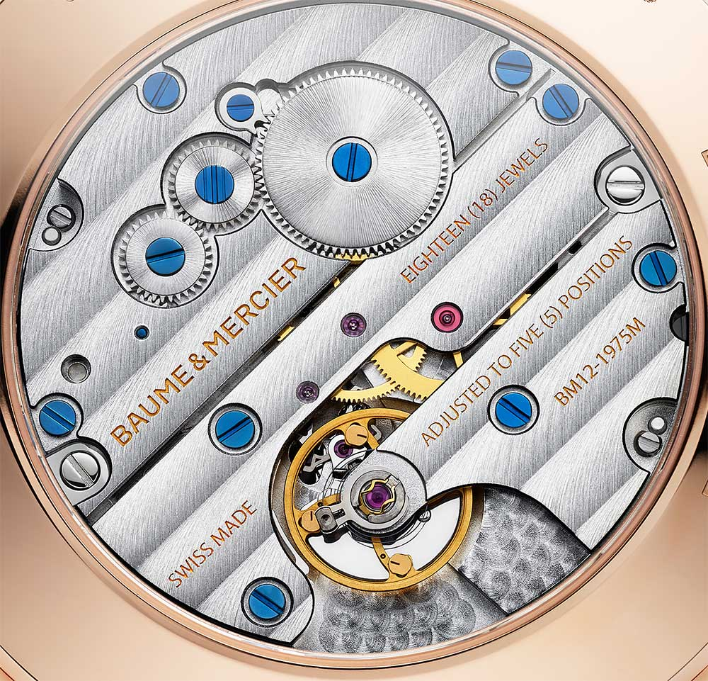 Baume & Mercier Clifton Manual 1830, movement detail