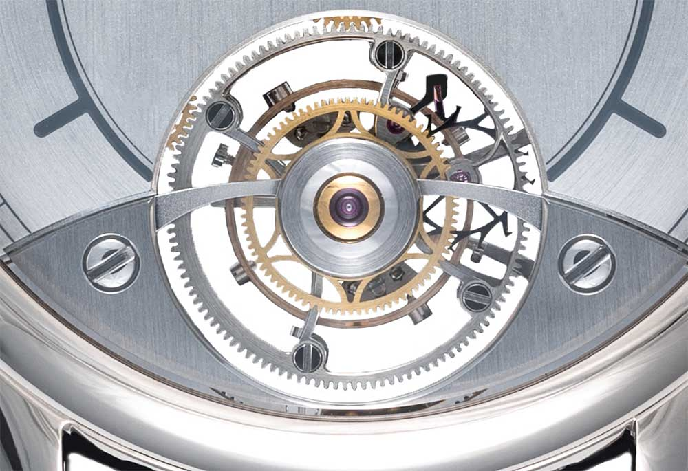 Laurent Ferrier Galet Classic Dual Tourbillon Double Spiral, tourbillon detail