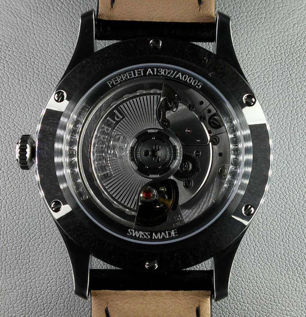 Perrelet Weekend 3 Hands caseback