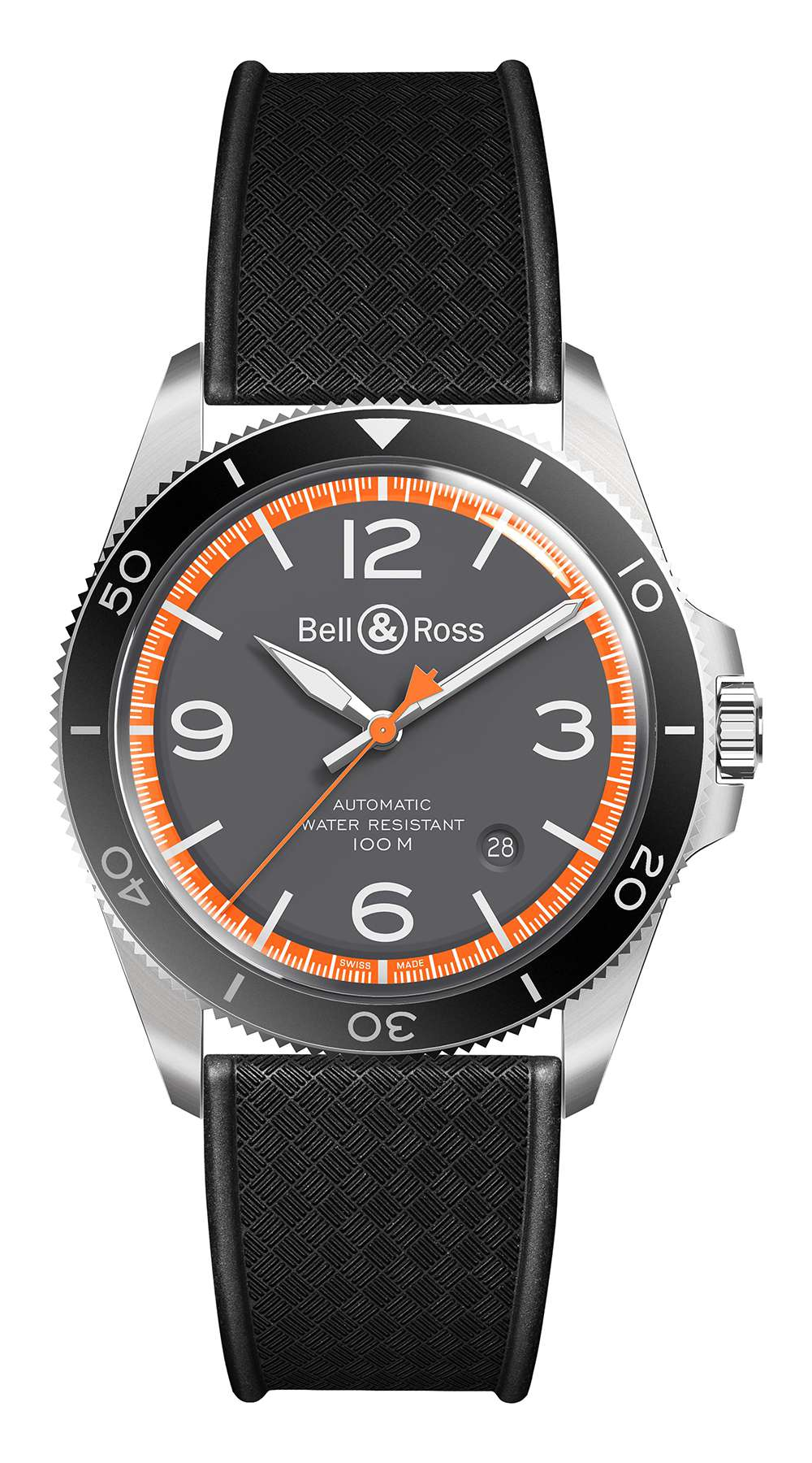 Bell & Ross Vintage Garde-Côtes Automatic, rubber strap