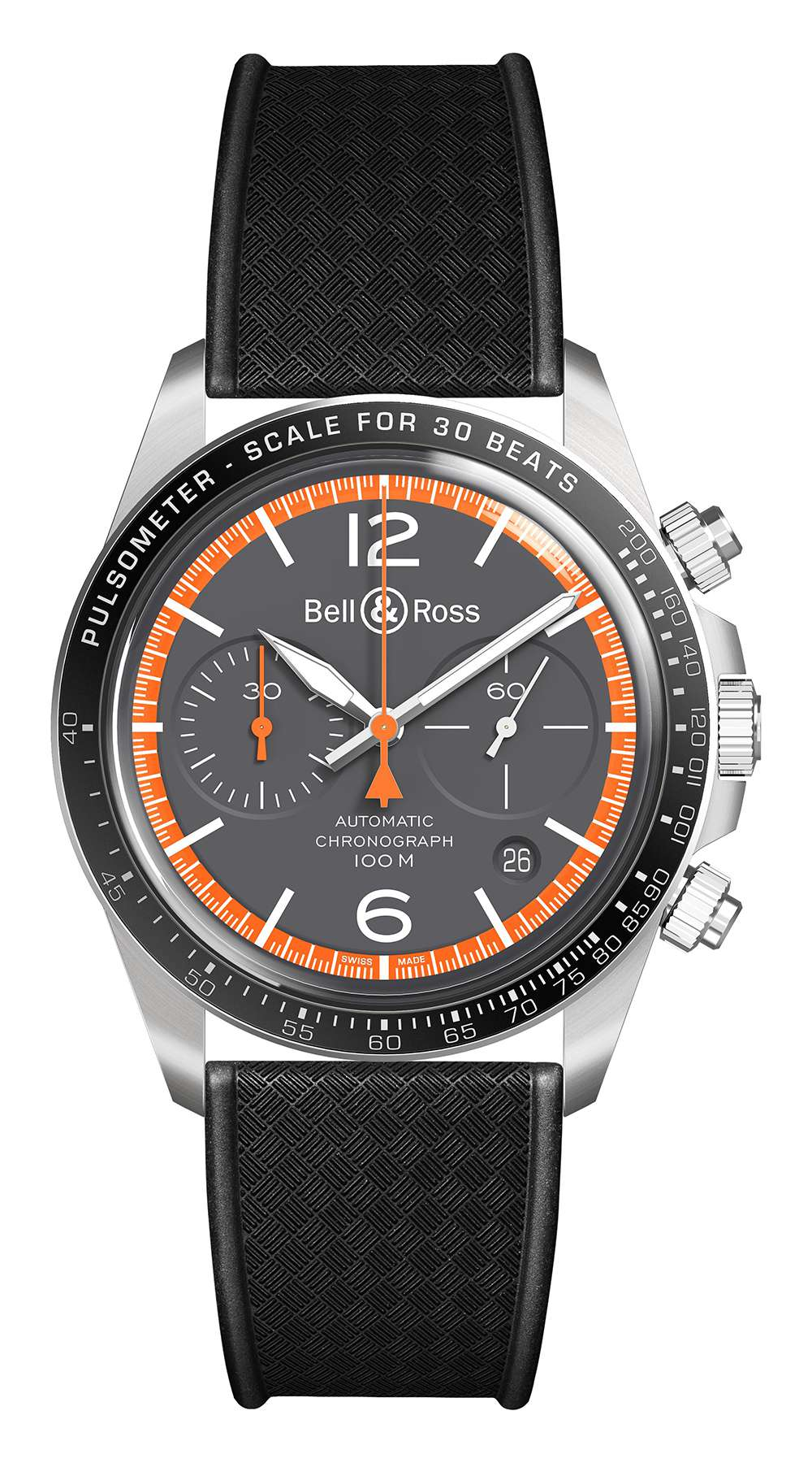 Bell & Ross Vintage Garde-Côtes Chronograph, rubber strap