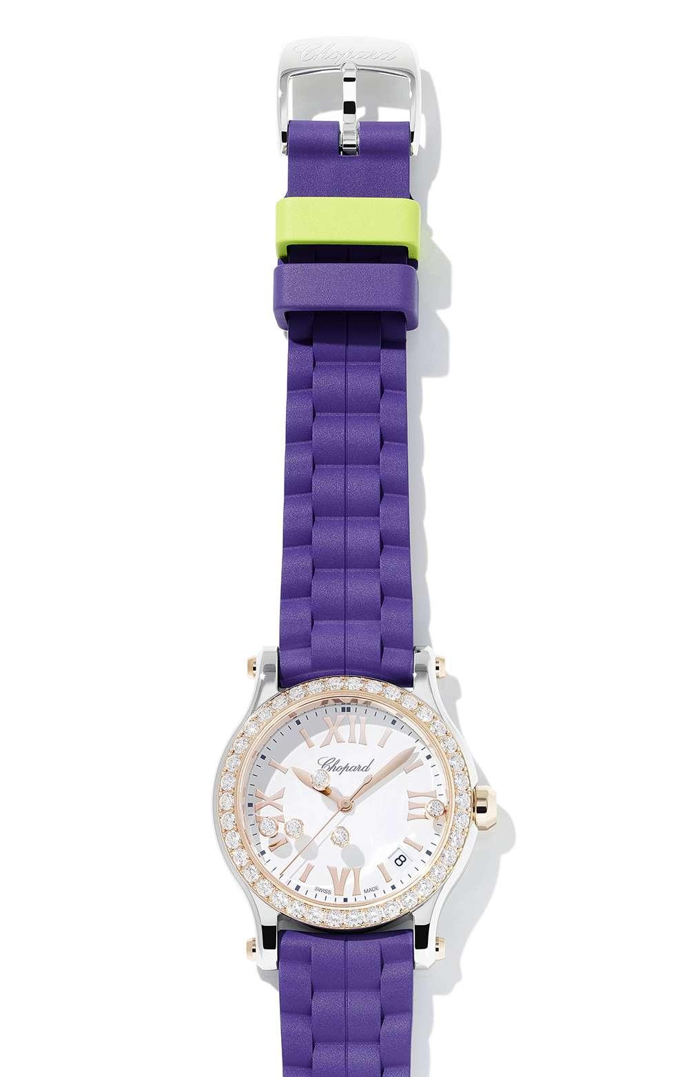 Chopard Happy Sport Summer 2017, purple, bezel with diamonds