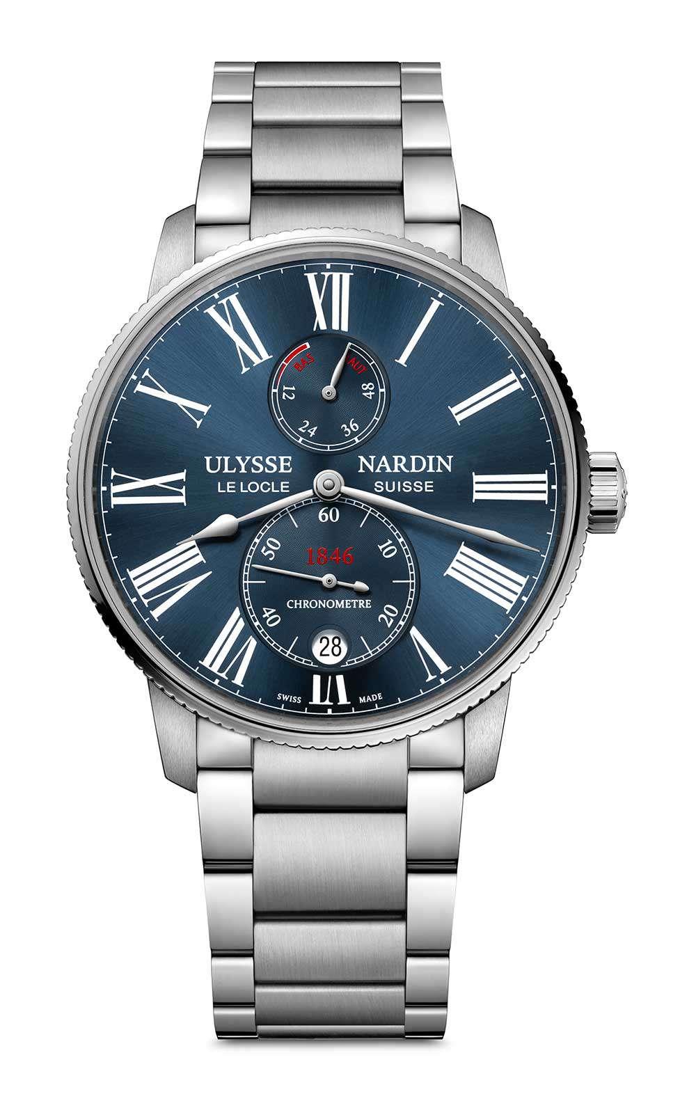 Ulysse Nardin Marine Torpilleur, steel, blue dial, reference 1183-310-7M/43