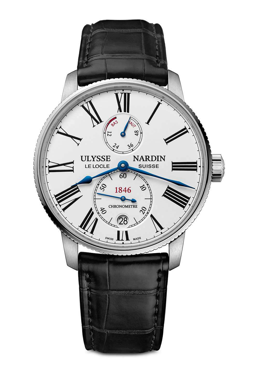 Ulysse Nardin Marine Torpilleur, steel, white dial, reference 1183-310-40