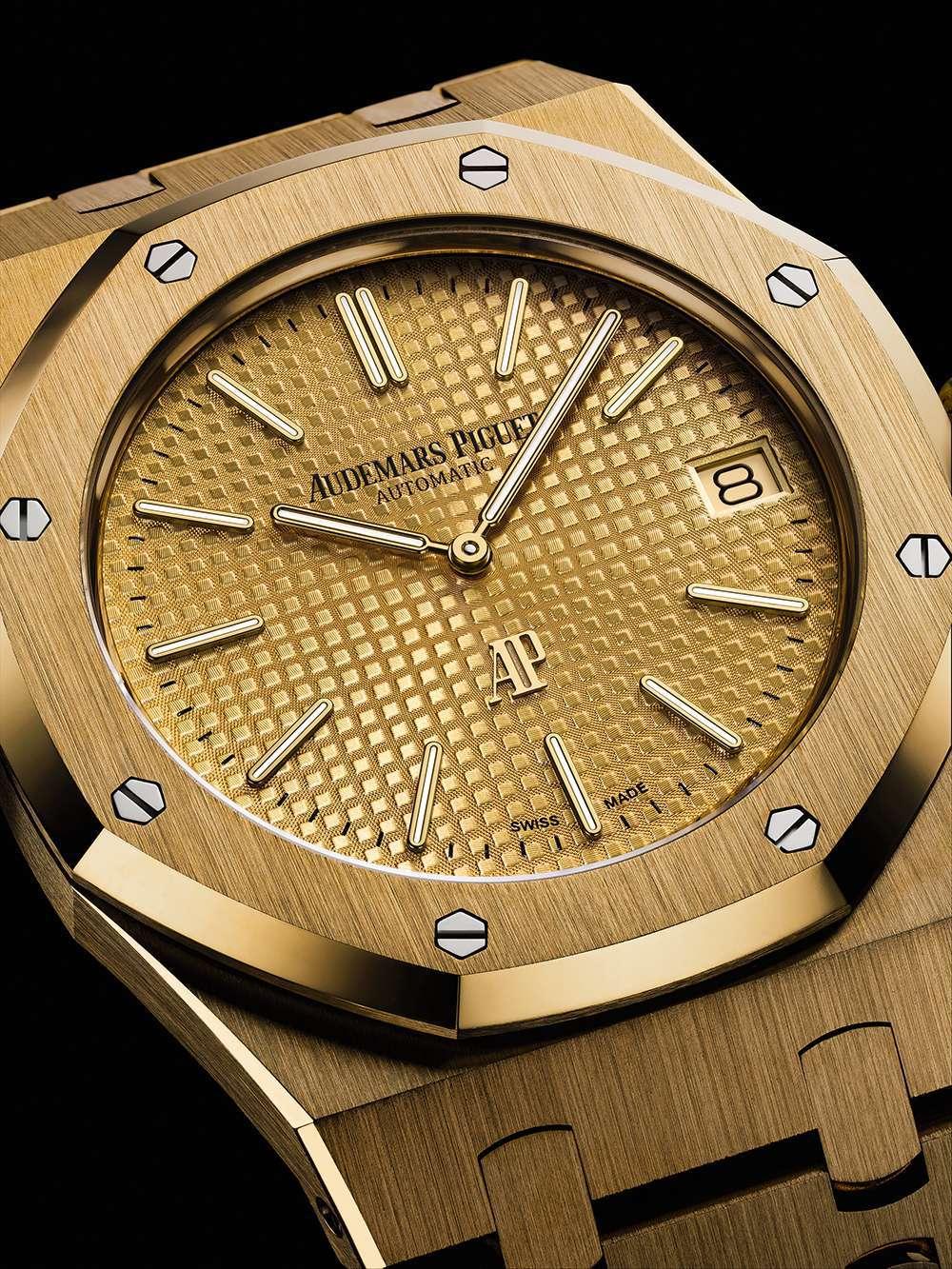 Audemars Piguet Royal Oak Extra-Thin, gold dial