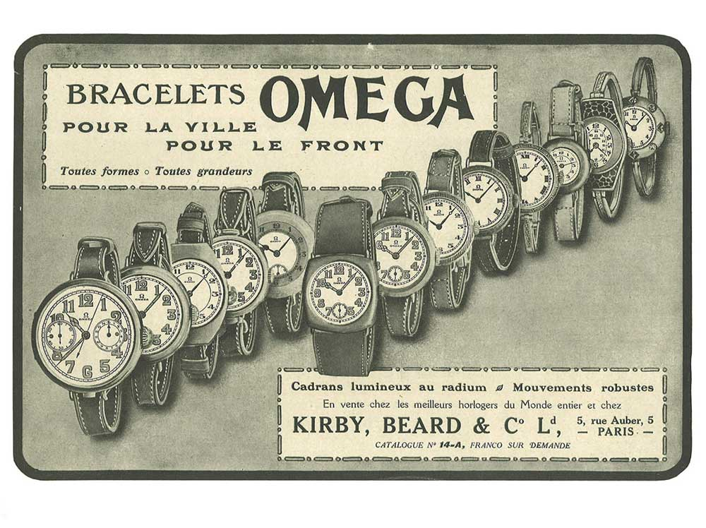 An Omega advert published in France in 1916