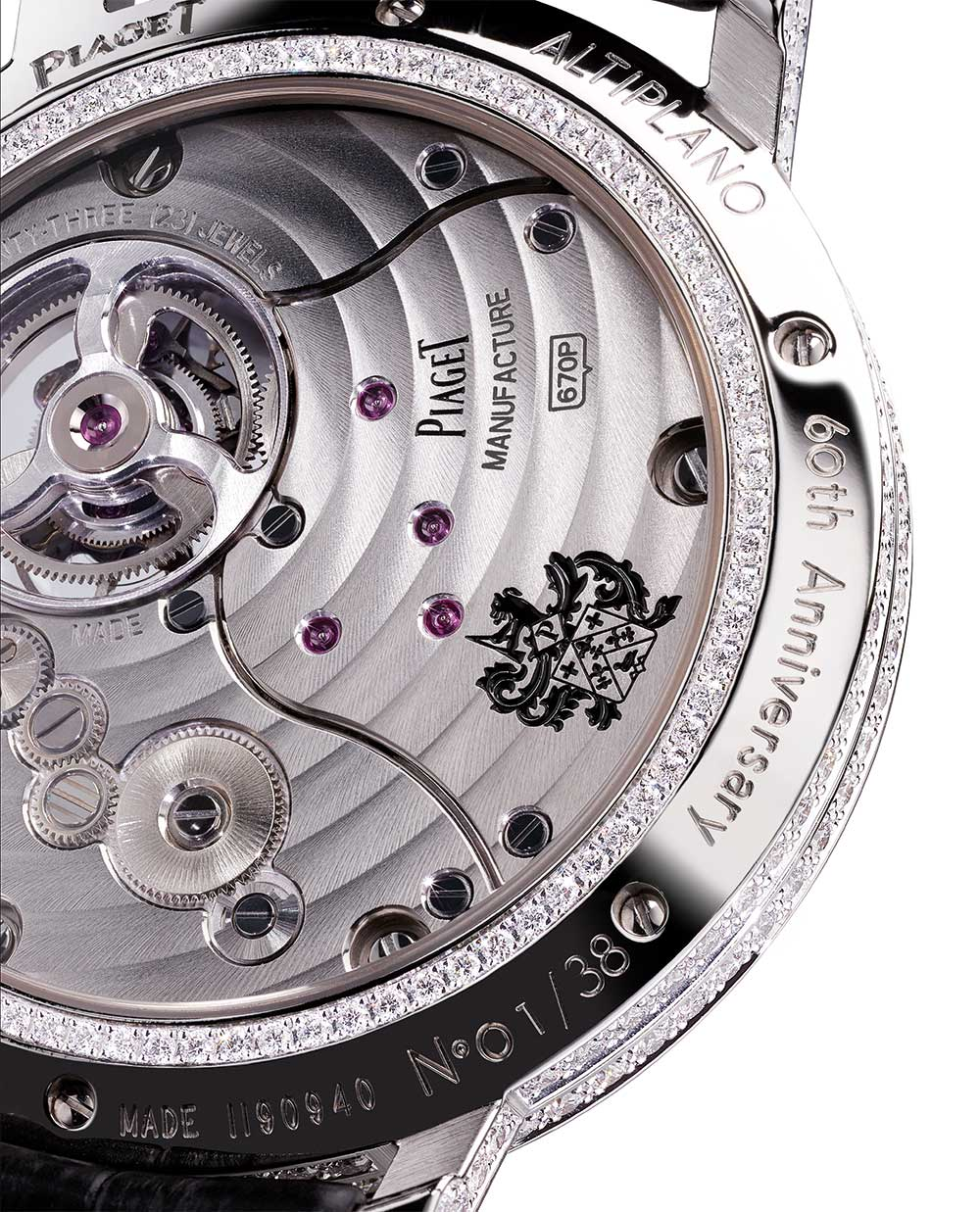 Piaget Altiplano Tourbillon High Jewellery G0A42204, caseback