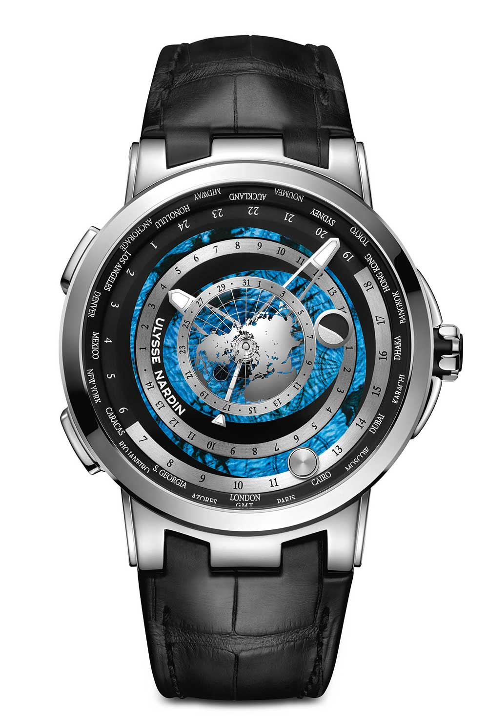 Ulysse Nardin Executive Moonstruck Worldtimer 1069-113/01