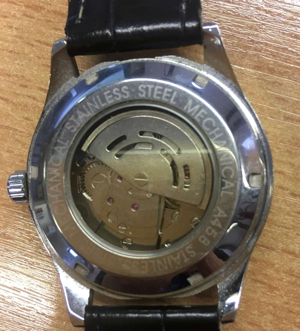 Winner automatic watch caseback