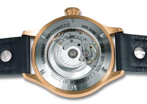 Archimede Pilot 42 H Bronze BL.B caseback