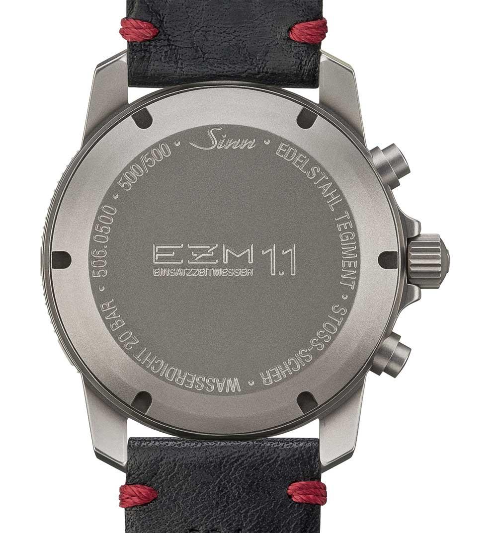 Sinn EZM 1.1 mission timer caseback