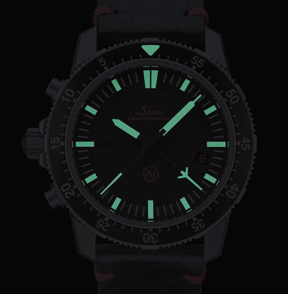 Sinn EZM 1.1 mission timer chronograph SuperLuminova