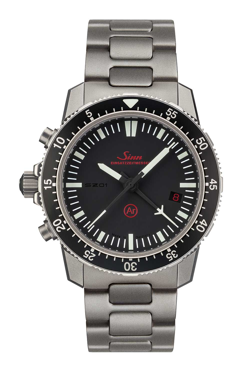 Sinn EZM 1.1 mission timer chronograph with bracelet