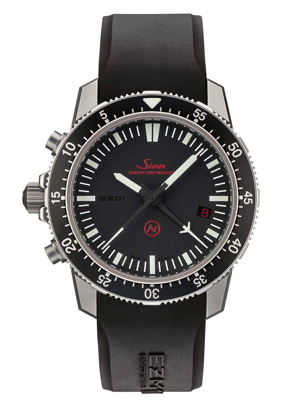 Sinn EZM 1.1 mission timer chronograph silicone strap