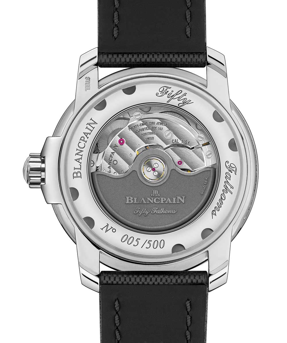 Blancpain Tribute to Fifty Fathoms MIL-SPEC caseback