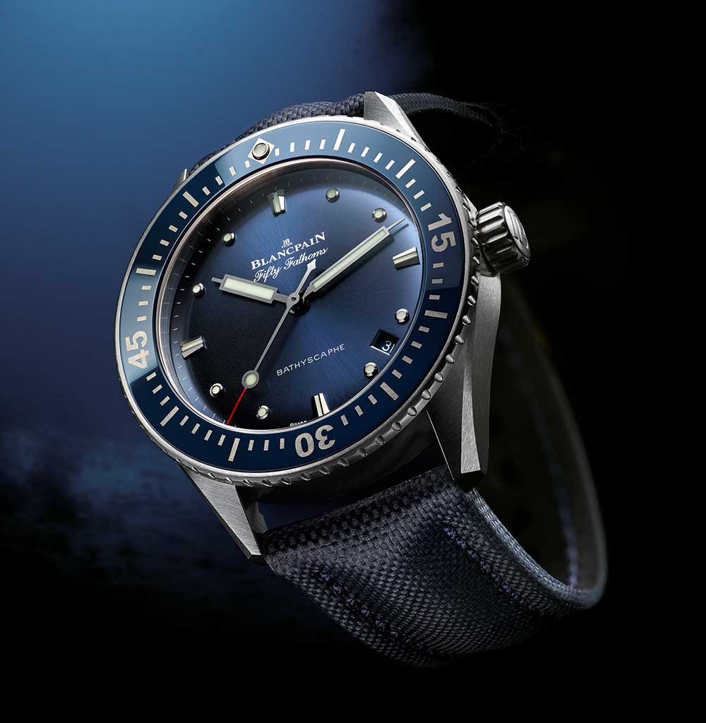 Blancpain 38 mm Fifty Fathoms Bathyscaphe reference 5100-1140-O52A