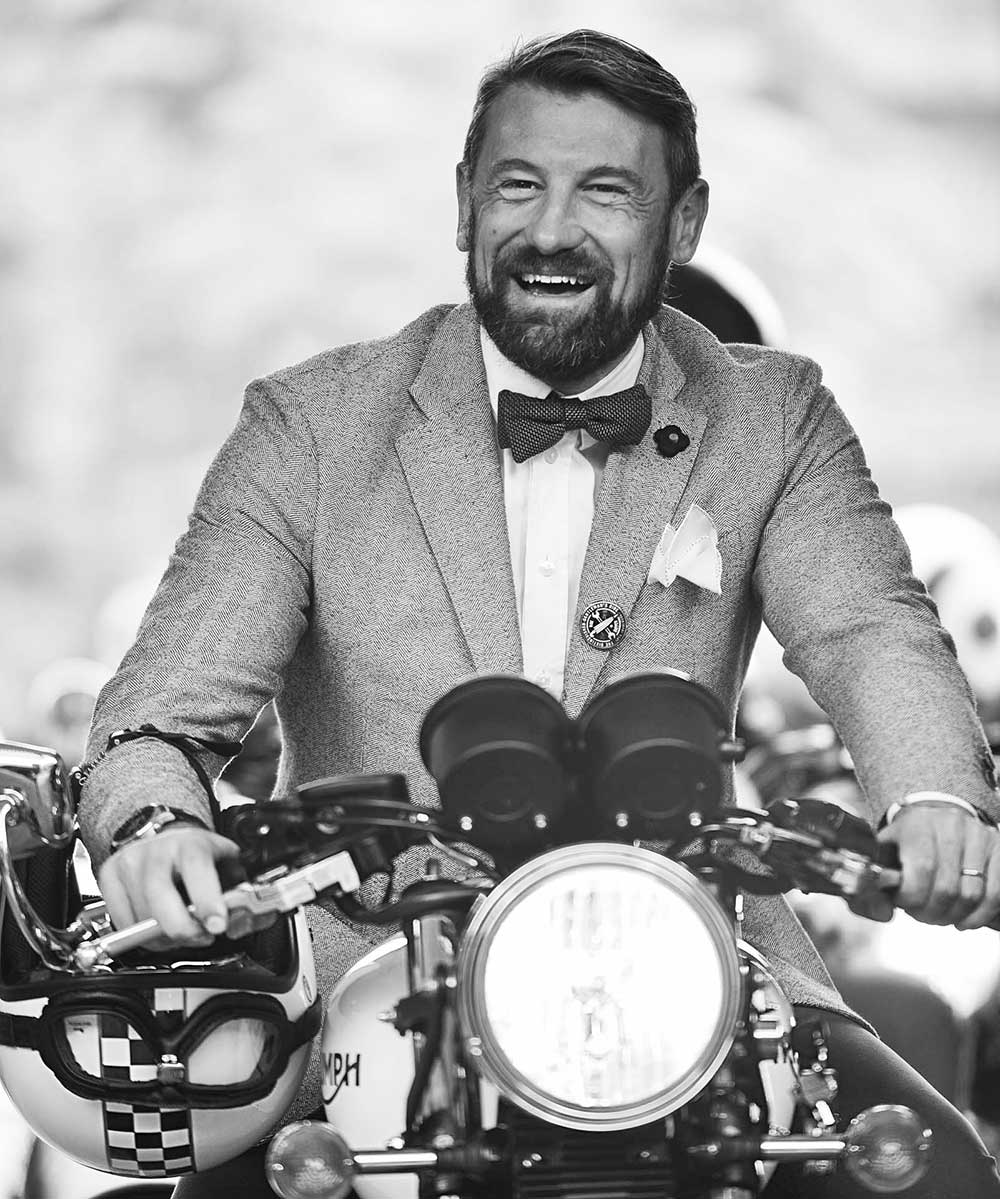 At the Milan Distinguished Gentlemen's Ride, Luciano Consolini