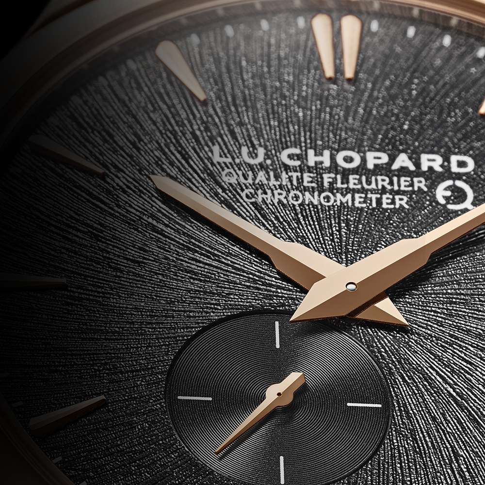 Chopard L.U.C XPS Twist QF Fairmined dial detail