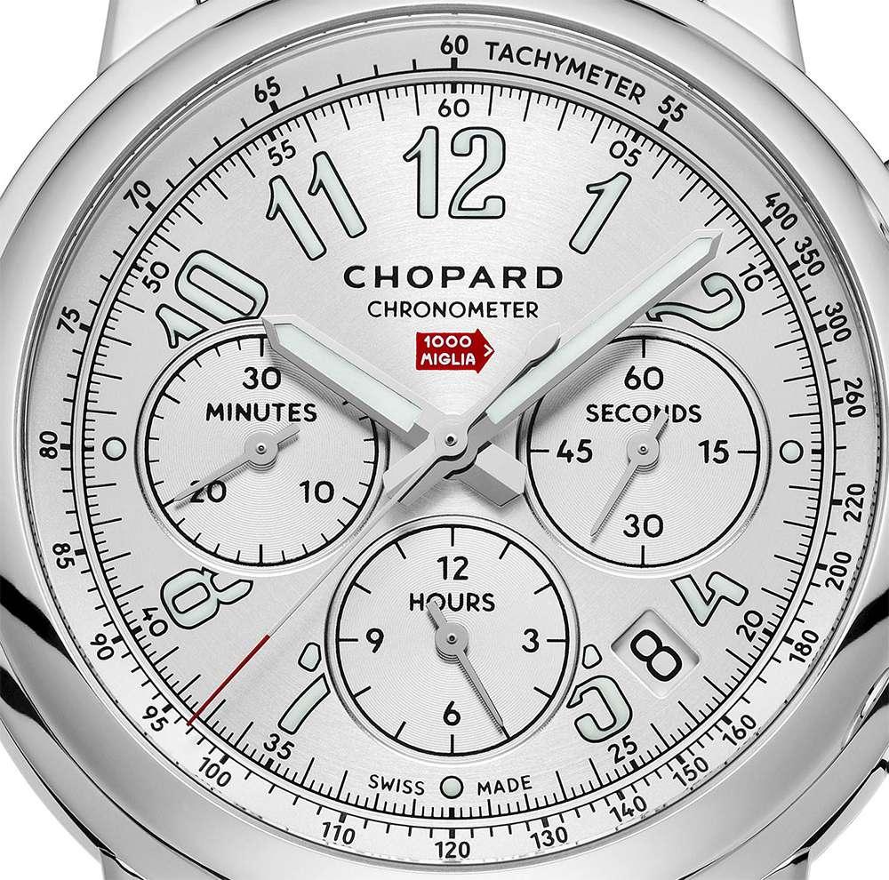 Chopard Mille Miglia Classic Chronograph dial detail