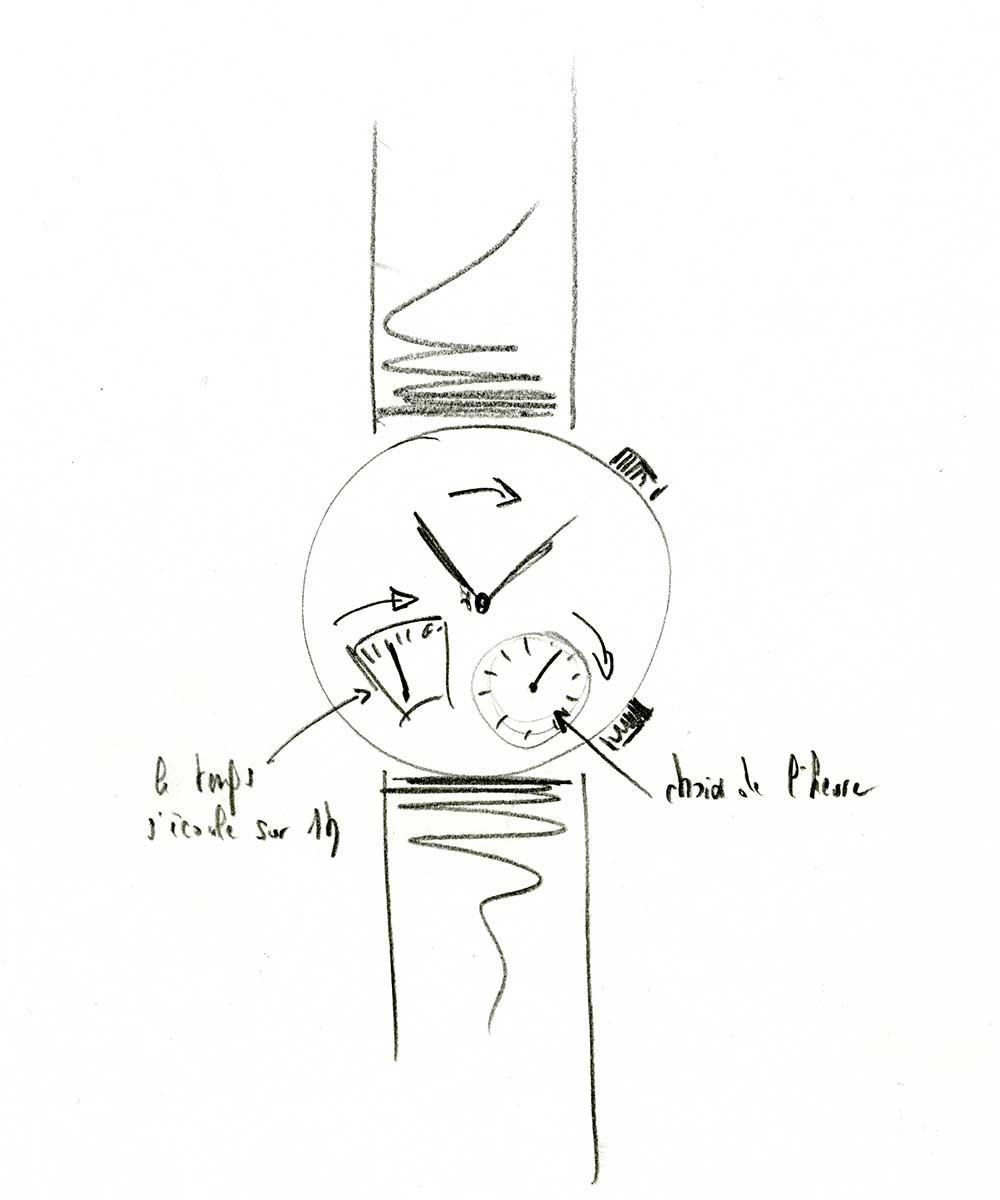 Sketch for Slim d'Hermès L'heure impatiente