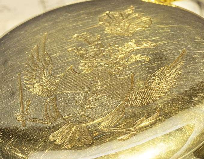 Breguet pocket watch n° 3624, Malaspina family crest