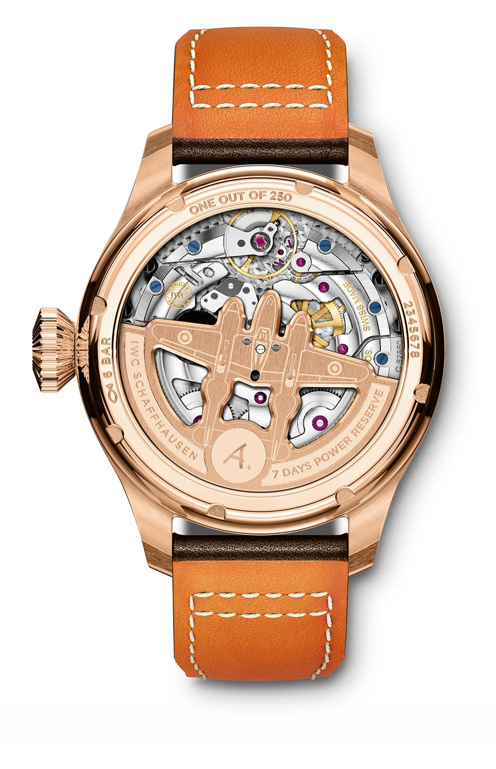 IWC Big Pilot's Watch Annual Calendar Edition Antoine de Saint Exupéry reference IW502706 caseback