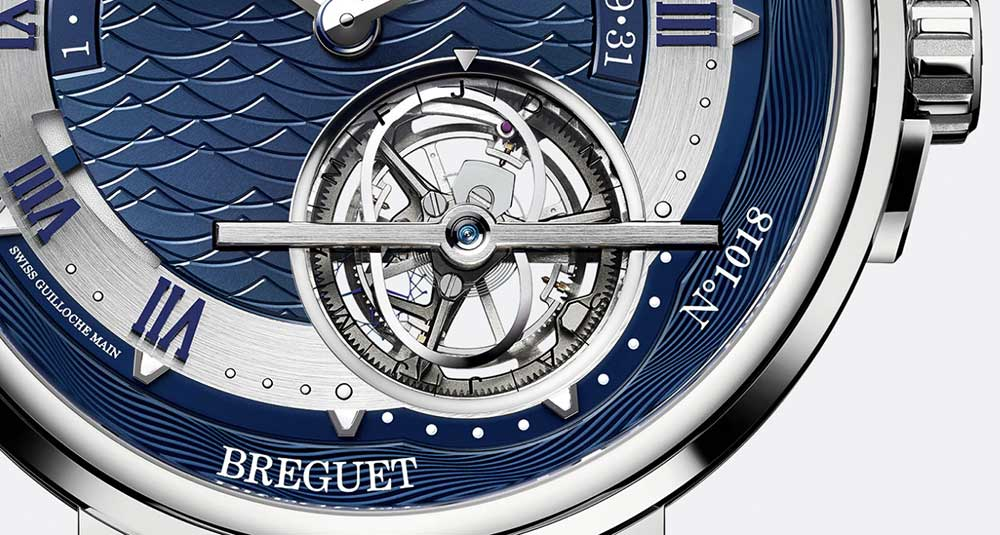 Breguet Marine Équation Marchante 5887 tourbillon detail