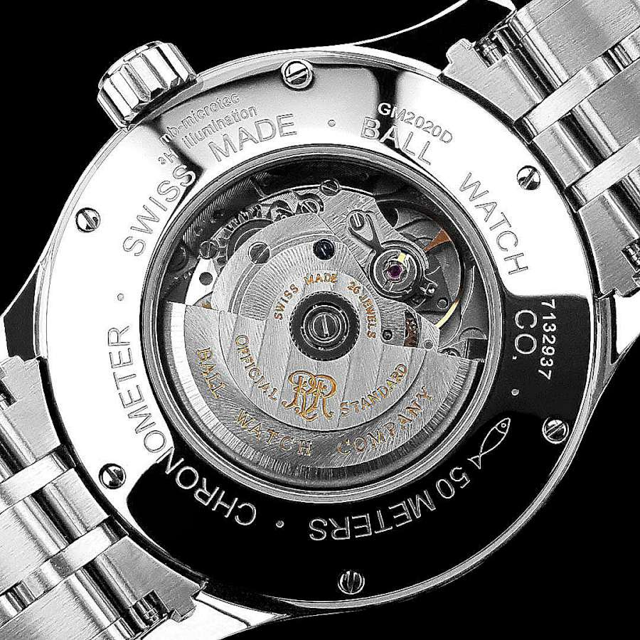 Ball Trainmaster Worldtime caseback
