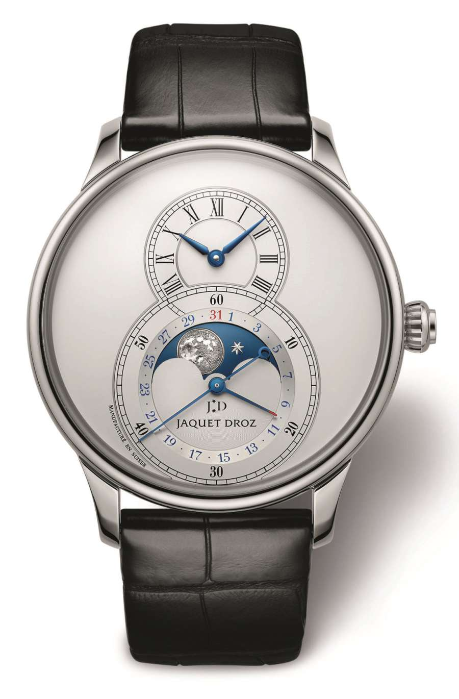 Jaquet Droz Grande Seconde Moon, argentée