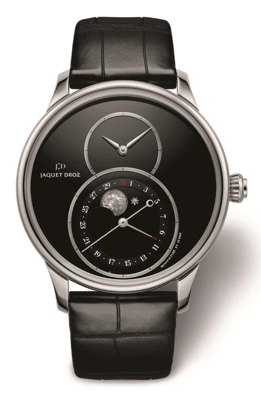 Jaquet Droz Grande Seconde Moon, onyx