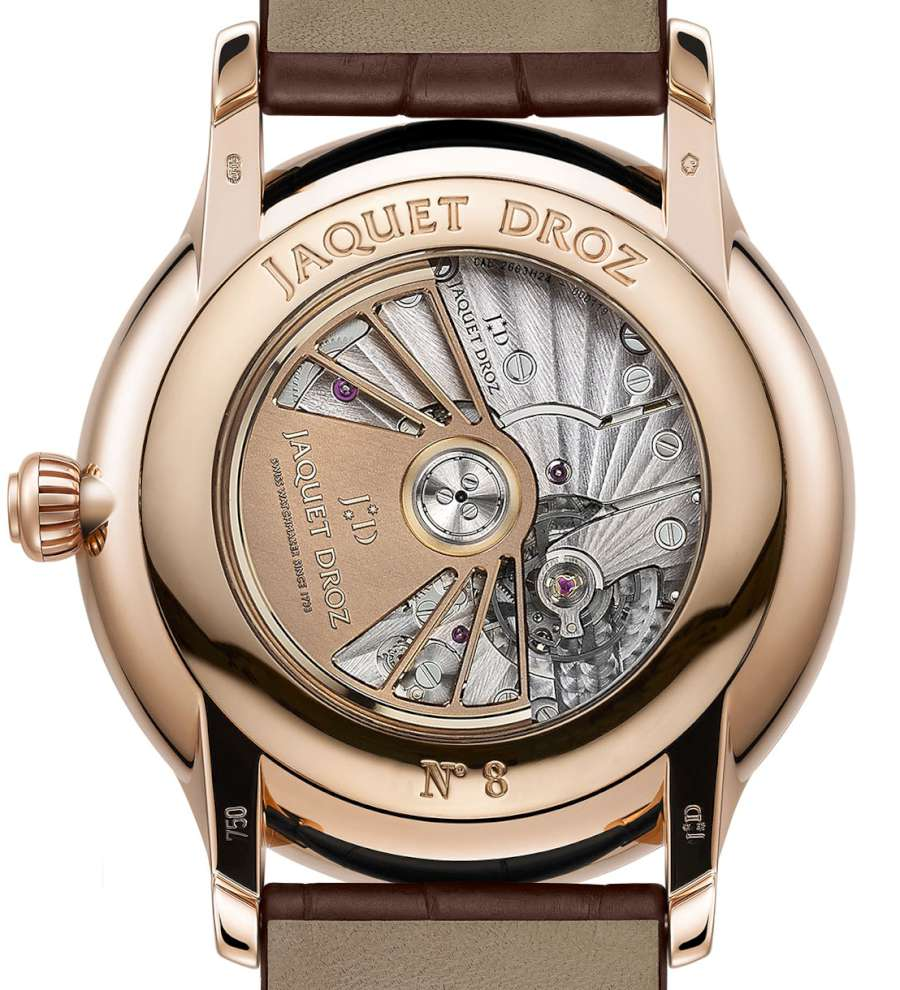 Jaquet Droz Grande Seconde Moon, red gold, caseback