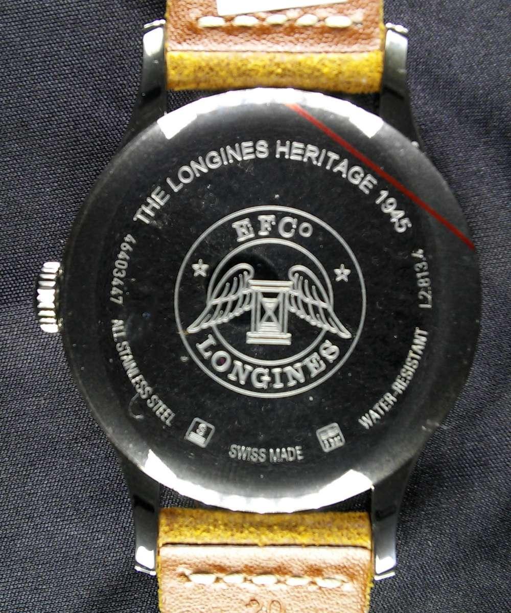 Longines Heritage 1945 caseback